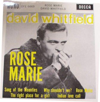 David Whitfield...Rose Marie [EP]
