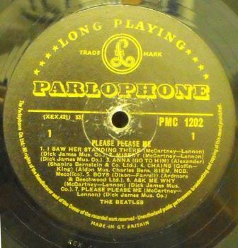 Beatles...Please Please Me [Gold Parlophone]. SOLD